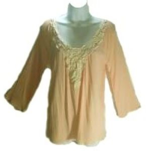 Pink Blush, Ladies Soft Pink Top
